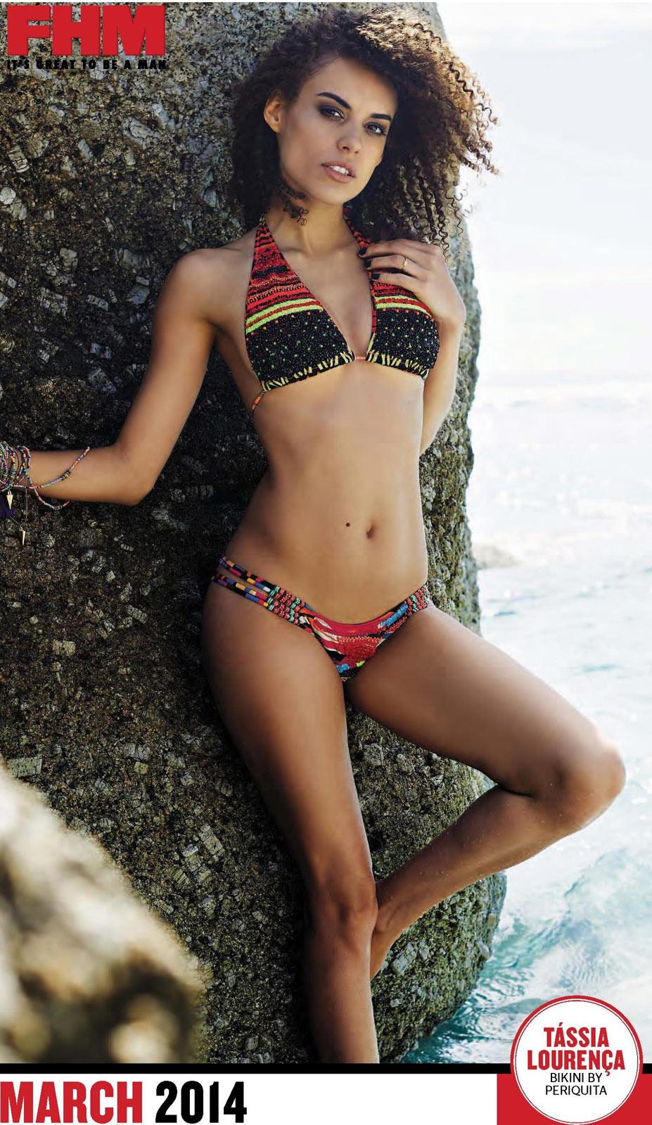 Сексуальные девушки в календаре журнала FHM South Africa 2014 - Tassia Lourenca