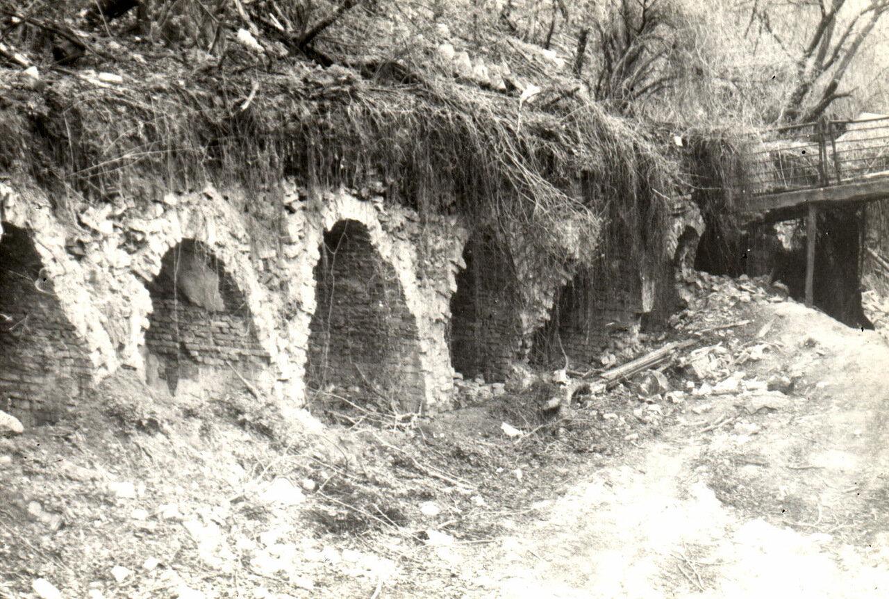 Погреба, оставшиеся от снесенного дома по ул. Петровской. 1987 год