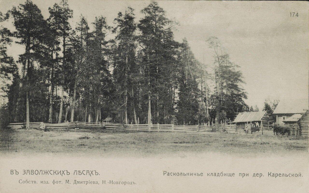 Раскольничье кладбище при дер.Карельской