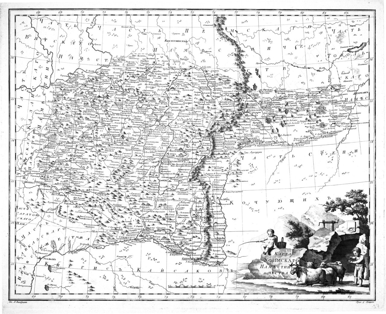1792. Карта Уфимского наместничества А.Вилбрехта