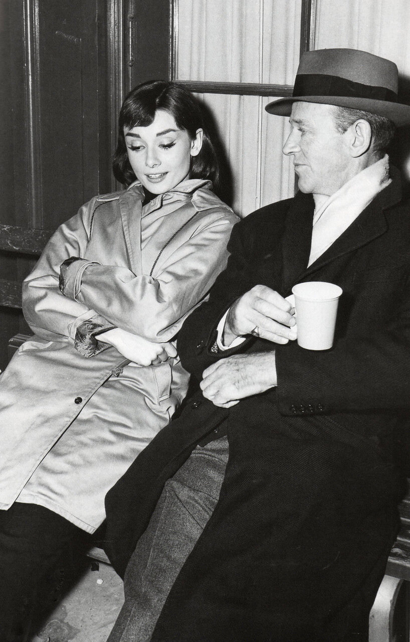 1956. Одри Хепберн и Фред Астер на съемках «Забавной мордашки»