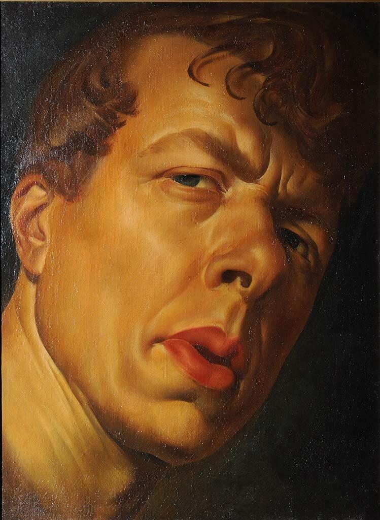 Портрет Бориса Григорьева 1920-е годы, художник Александр Яковлев (1887-1938) Частная коллекция.