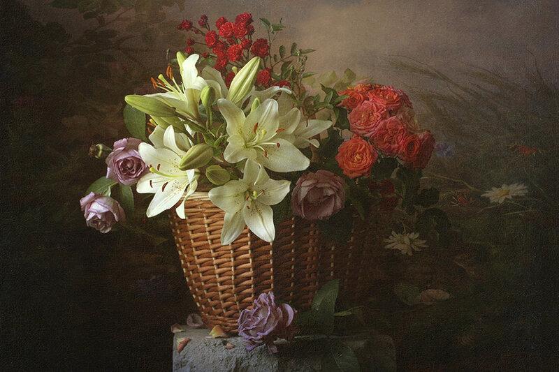 Мне букет подарили чудесных цветов