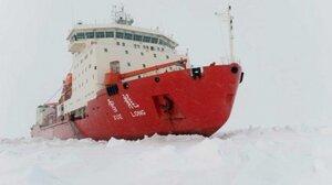 """Китайский ледокол """"Снежный дракон"""" застрял во льдах"""