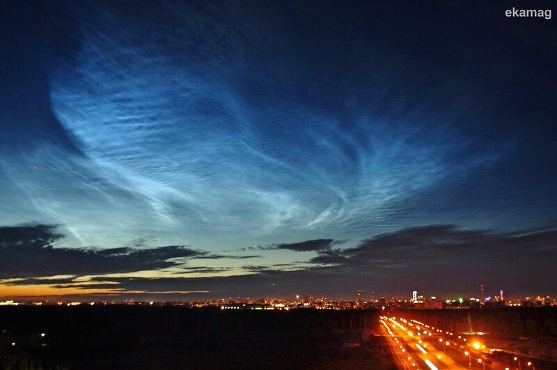 Необычное свечение в небе над Челябинском