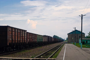 Станция Угра, вид в сторону ст. Фаянсовая