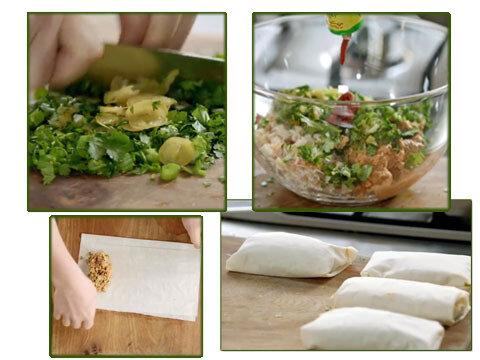 Как готовить конвертики с мясом краба из серии Обед за 15 минут