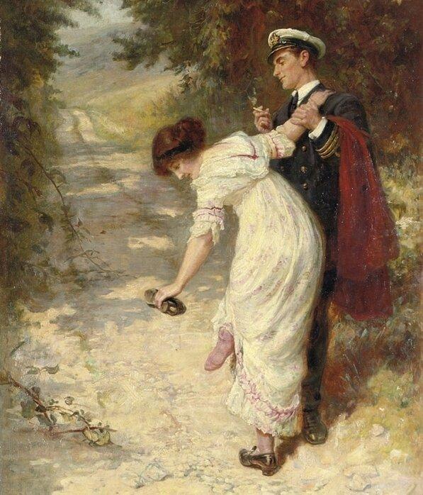 Frederick Morgan (1847-1927) Love's Interruptions