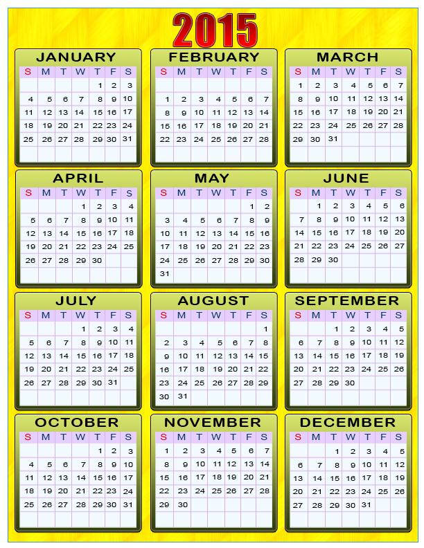 Календар 2015. Жовтий фон. calendar 2015 листівка фото привітання малюнок картинка