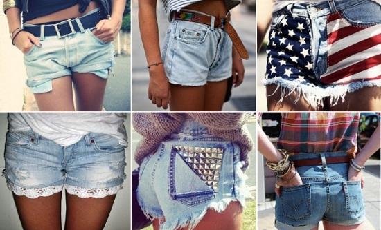 Короткие шорты из джинсов своими руками