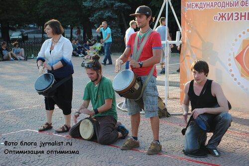 Бои подушками в Луганске июнь 2013