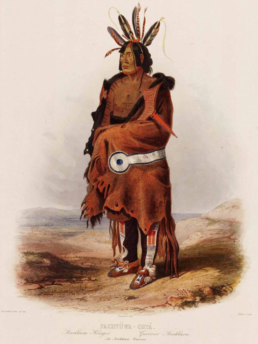 Воин из племени арикара - Karl Bodmer