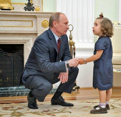 Ленин то есть Путин и ребёнок