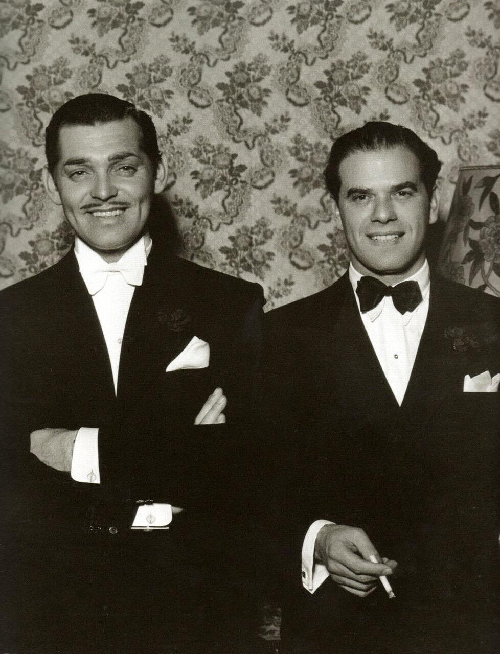 1936. Кларк Гейбл и Фрэнк Капра на церемонии вручения премии Оскар