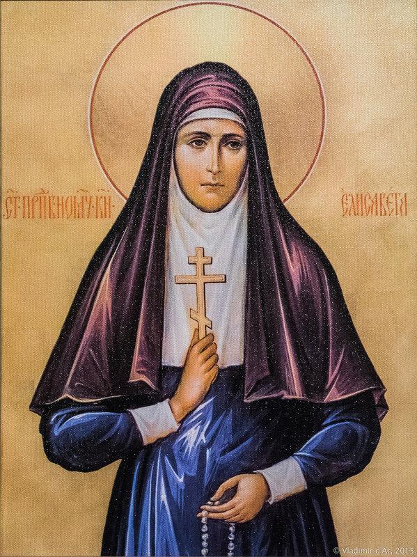 Икона Святая преподобномученица великая княгиня Елизавета Федоровна