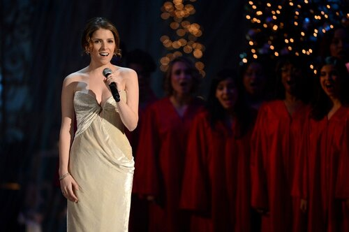 WASHINGTON, DC - DECEMBER 15: Singer/actress Anna Kendrick performs onstage at TNT Christmas in Washington 2013 at the National Building Museum on December 15, 2013 in Washington, DC. 24313_002_0408.JPG (Photo by Theo Wargo/WireImage)