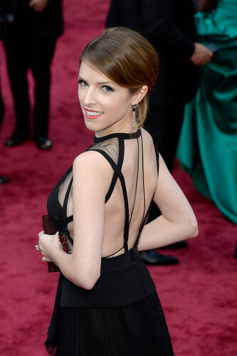 HOLLYWOOD, CA - MARCH 02: Actress Anna Kendrick attends the Oscars held at Hollywood & Highland Center on March 2, 2014 in Hollywood, California. (Photo by Kevork Djansezian/Getty Images)