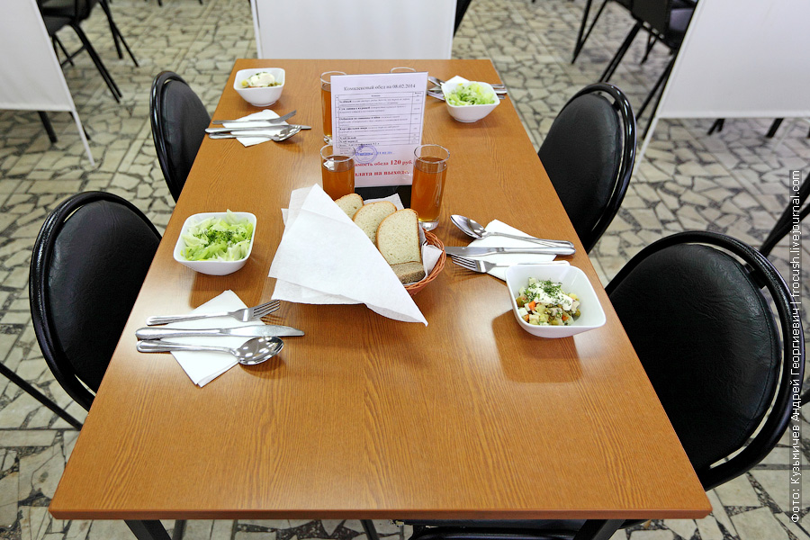Обед в столовой МГТУ ГА. Комплексный обед за 120 руб