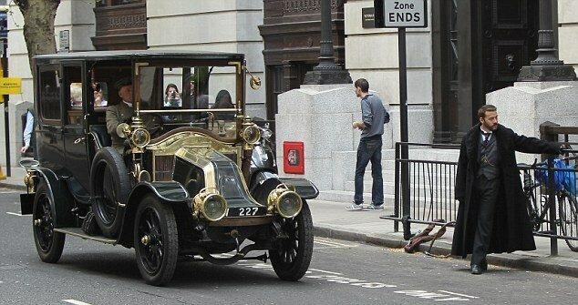 FAMEFLYNET - Stars On Set Of Mr Selfridge Filming In London