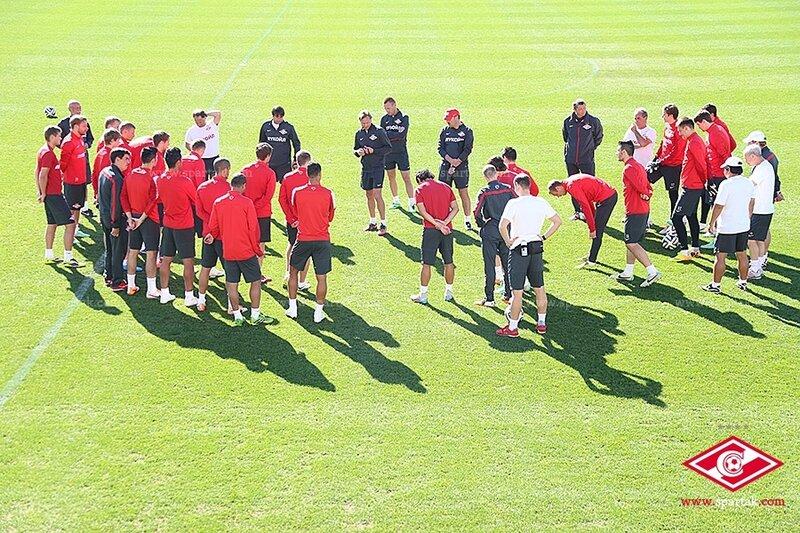«Спартак» провел одну тренировку накануне матча со «Стремсгодсетом»