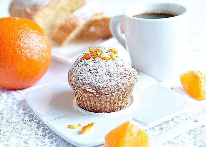 Творожные маффины с мандаринами
