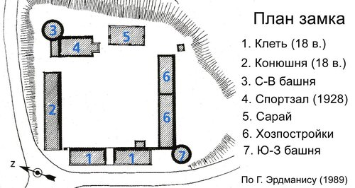 План замка