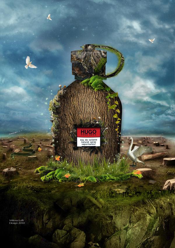 Зелёная реклама от Hugo Boss