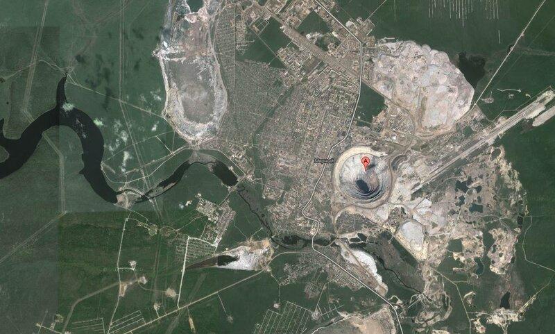 Посёлок Мирный, где добывают Алмазы 62.529423,113.99354