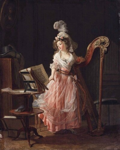 Michel Garnier (French, 1753-1819) La jeune musicienne. 1788