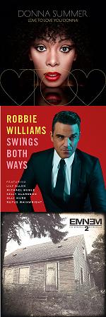 Рецензии на альбомы Donna Summer / Robbie Williams / Eminem