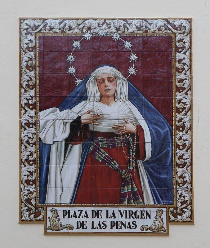 Малага. Площадь Вирген-де-лас-Пенас (Plazuela Virgen de las Penas)