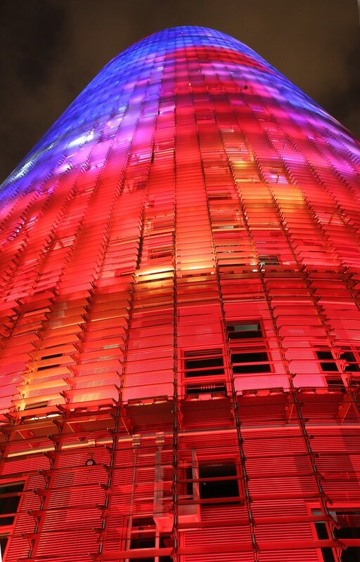 Barcelona. The tower of Glories (Torre Glòries) or the tower of Agbar (Torre Agbar)