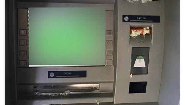 Банкоматы вцентре Харькова залили монтажной пеной