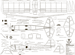 Чертеж модели самолёта Micro-Spacewalker