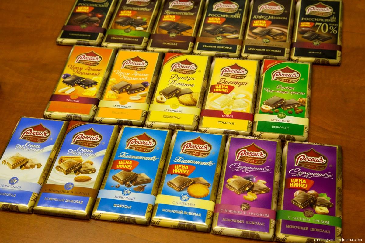 Как делают шоколадные конфеты.