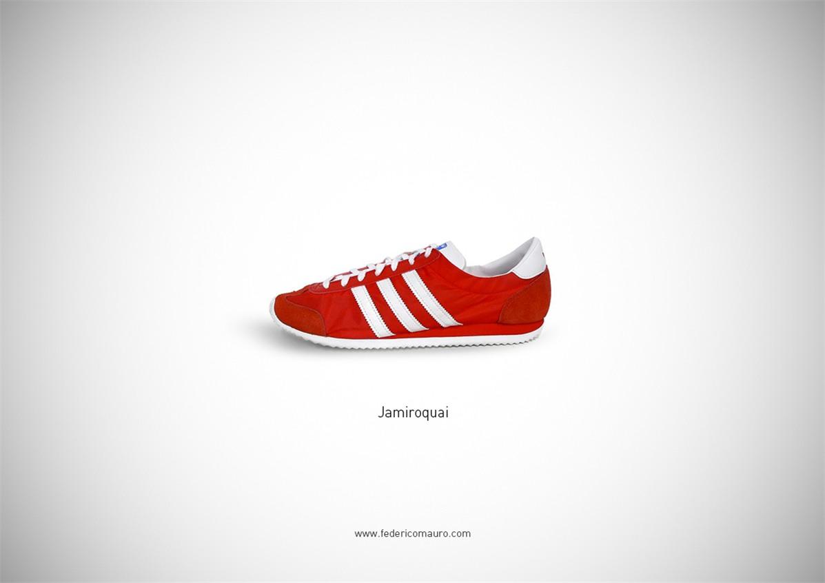 Знаменитая обувь культовых персонажей / Famous Shoes by Federico Mauro - Jamiroquai
