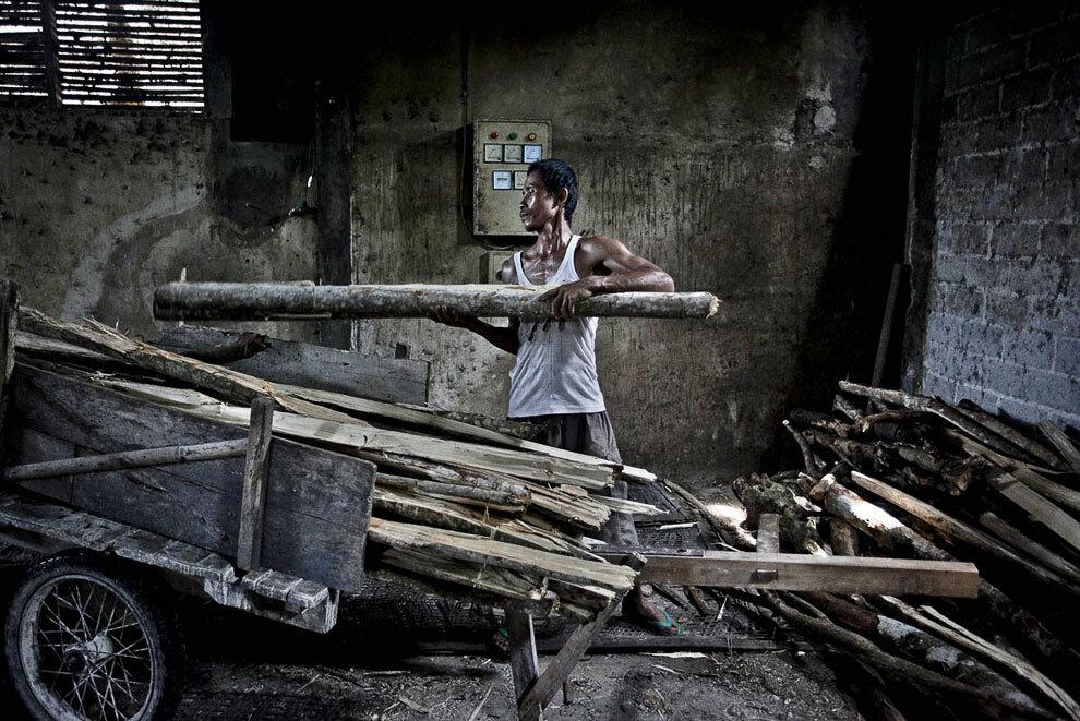 Как делают лапшу в Индонезии