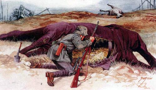 Немецкие снайперы готовят позиции
