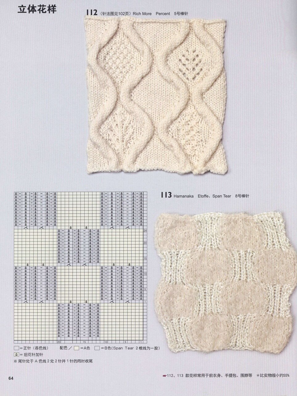 冈本启子的创意棒针编织花样精选150(1) - 彩凤双翼 - 彩凤双翼