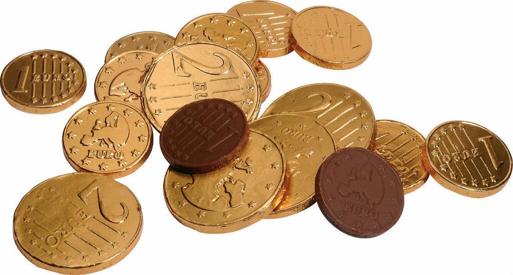 монета шоколад
