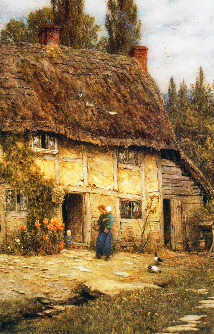 Helen Allingham - A Surrey Farmhouse.jpg