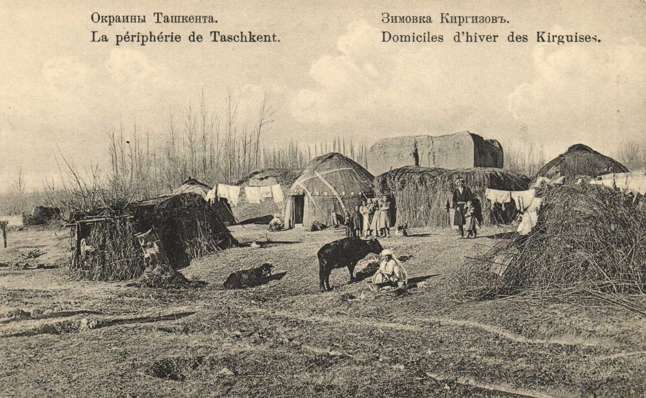 Окраины Ташкента. Зимовка киргизов.