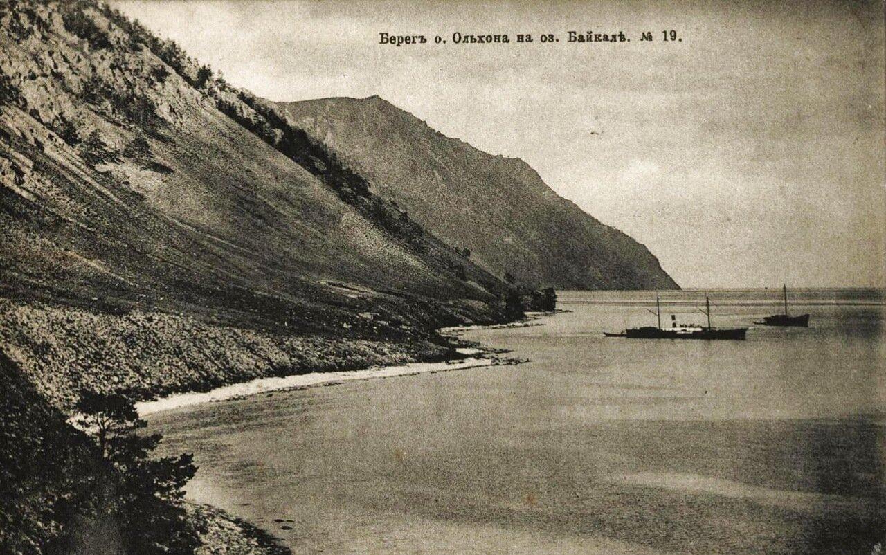 Берег острова Ольхон на озере Байкал