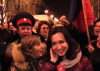 Севастопольцы вышли на улицы в поддержку присоединения Крыма к России