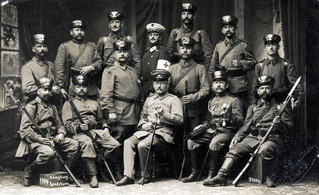 Bayer. Landsturmmanner from the 4th Infanterie Brigade, Gunzburg 1914