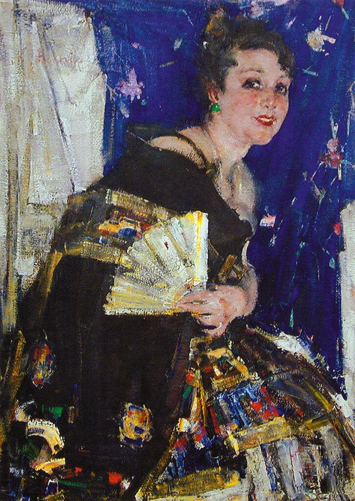 Русская певица (Портрет Е.И.Хатаевой) (Ок.1924).jpg