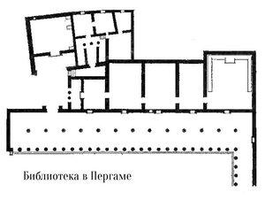 Пергамская библиотека , план