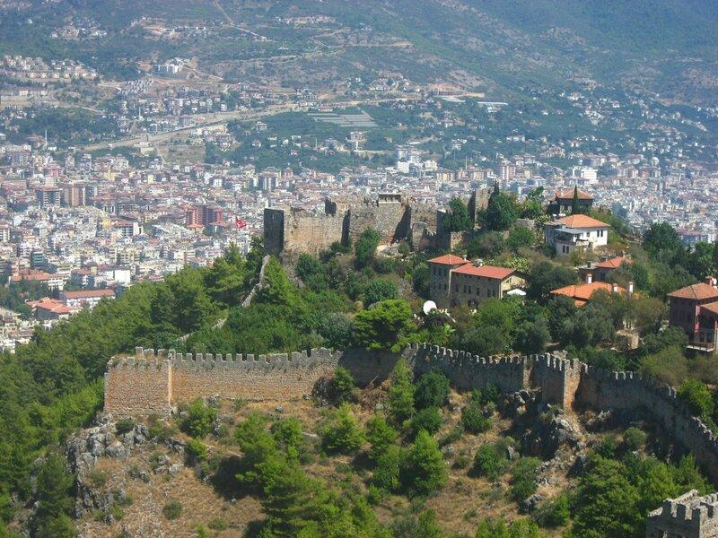 крепость в Аланьи, Турция,