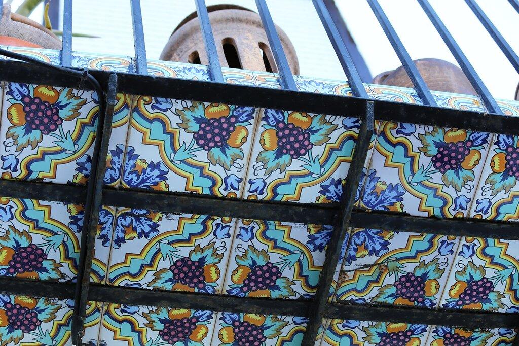 Peniscola. Peniscola. balcony tiles. Tiled balcony. ceramics