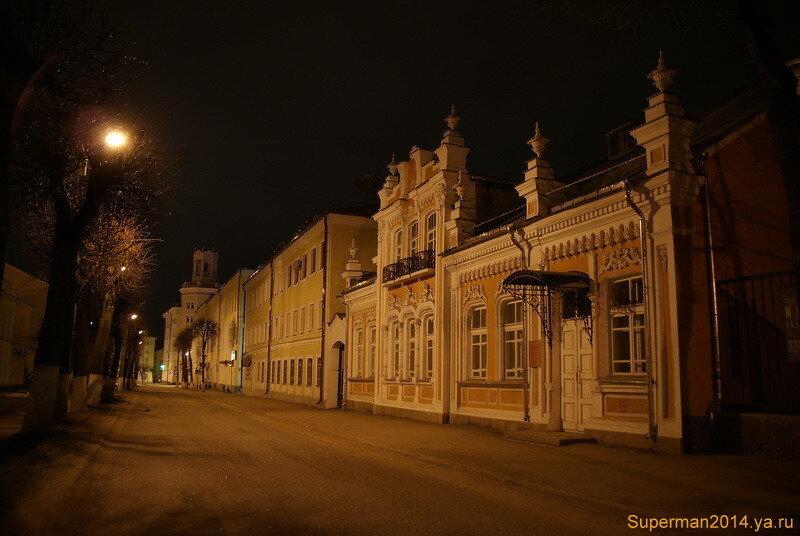 ночной Смоленск  - улица Маяковского